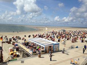 Die größte Players-Lounge der Welt: Zwischen den Matches ruft der Strand...