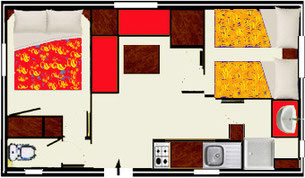 plan mobile home CATALANE 23m2