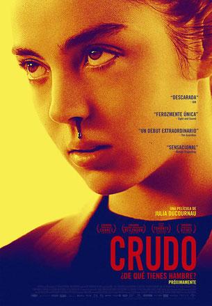 Portada oficial de la película 'Crudo', de Julia Ducournau.