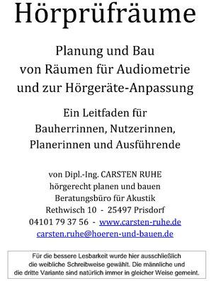 Deckblatt der Veröffentlichung Hörprüfräume - Planung und Bau