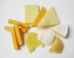 Käse geschnitten