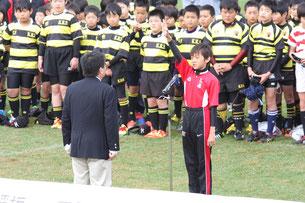塚平キャプテンの選手宣誓