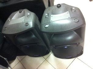 Boxen und Lautsprecheraufbereitung von Mr. Dee-Age (hier Mackie SRM 450)