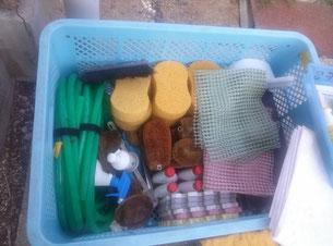 掃除道具一式 洗剤はカネヨンを使用