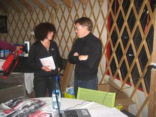 L'organisatrice et le président de l'AFV