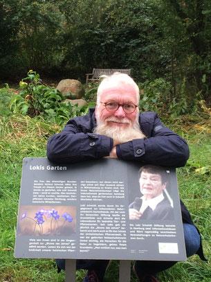 """Fotos: igs - John Langley und  """"Loki Schmidt"""" auf der igs in Hamburg  ( † 21. 10. 2010)"""