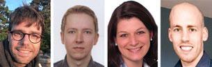 Jochen Scheuermann, Patrick Haak, Sabrina Remmers und Stefan Engels sind neu im Seminar. Fotos: privat