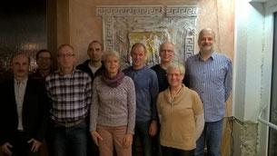 v.l.: Bernhard Kast, Fred Weber, Richard Harter, Jürgen Sonner, Dagmar Harter, Theo Bauer, Jürgen Armbruster, Perpetua Meier, Jörg Herr