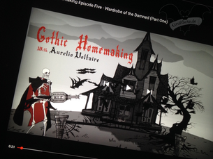 "Video-Serie ""Gothic Homemaking"" / Foto: Gothamella"