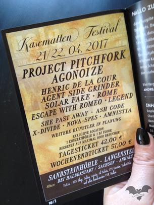 Flyer des Kasematten-Festivals 2017 / Foto: Gothamella