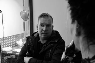Kai Lotze im Gespräch mit den Gruftboten / Foto: Dunkelklaus