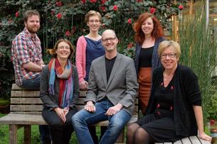 Vlnr: Ties Huigens, Marjolijn Coppens, Annemarie Teunissen, Arno Hoetmer, Vera van Berlo, Marianne van de Peppel