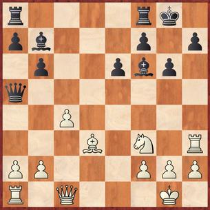 Margenberg - Lehmann: Schwarz geriet nach 18. ... Tad8 19.Dh6 in einen gefährlichen Angriff
