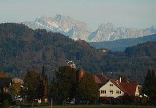 15. November 2014 - Liegt Bubikon doch am Fuss des Säntis?  (Luftdistanz 40 Kilometer)