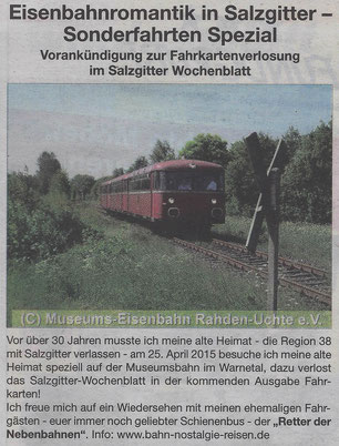 Eisenbahnromantik in Salzgitter - Sonderfahrten Spezial
