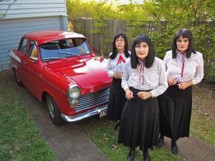 (L to R) Dawn Kransky, Mourne Kransky, Eve Kransky of The Kransky Sisters.