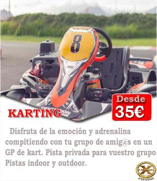 carrera de kart en el circuito de tenerife