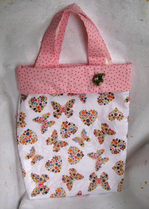Tasche mit Wachstuch außen