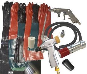 Strahlanlagen, Strahltechnikzubehör, Strahlkabine, Strahlraum, Sandstrahlersatzteile, Sandstrahldüse, Sandstrahlpistole