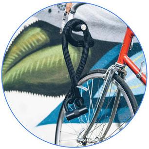 antivol de vélo noir