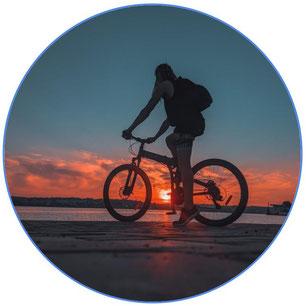 Couché de soleil à vélo