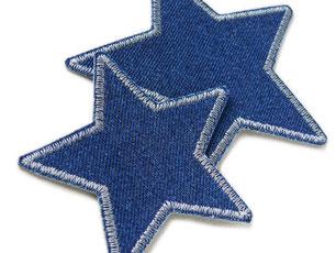 Bild: Stern Flicken zum aufbügeln in grau, schlichte Hosenflicken für Erwachsene