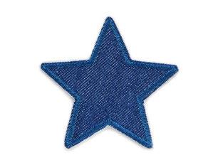 Bild: Bügelflicken Stern dunkelblau, Jeansflicken Aufnäher