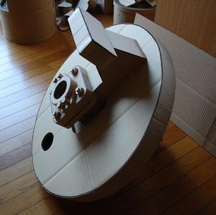 ピストン棒後蓋の原寸部分模型
