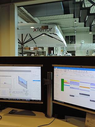 Produktion Herstellung einer Windschutzanlage