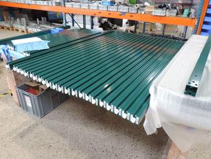 Herstellung einer Windschutzanlage für die Gastronomie