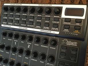 Xphatt BCR - Behringer BCR2000 Controller Overlay + MIDI Template, mxpand - für Moog Little Phatty / Slim Phatty, analog Synthesizer. Hochwertige Bedien-Schablone/Skin/Folie, Hardware Editor