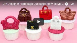 purse cupcakes,fashion cupcakes,beautiful cupcakes,