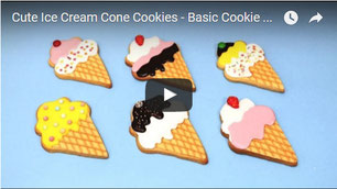 Cute Ice Cream Cone Cookies - Basic Cookie Recipe