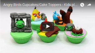 angry birds toppers,cupcakes kids,funny cupcakes,