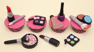 make up fondant toppers
