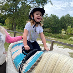 Young riders ages 3-6 years find a place here at Pony Gang in Camden, SC
