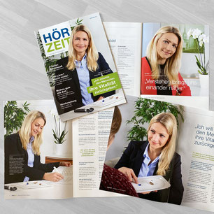 """Unsere Fotos im Kundenmagazin """"Hörzeit"""" der Vitakustik GmbH 01/2018"""
