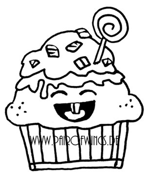 Digi Stamp Cupcake Muffin Cupcake Soße Geburtstag Lutscher Gesicht von www.stempel-wunderland.de