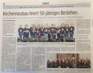 Presseartikel aus der Hünfelder Zeitung vom 20.11.2017