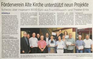 Presseartikel aus der Hünfelder Zeitung vom 28.06.2018