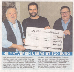 Presseartikel aus der Hünfelder Zeitung vom 31.01.2019