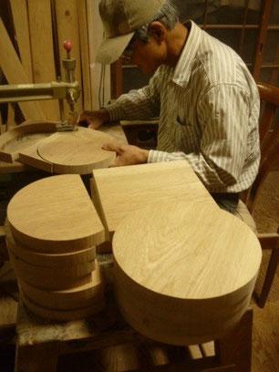 子ども椅子製作中です