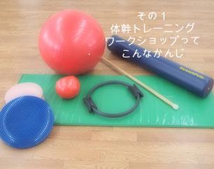 バランスボール・ストレッチポールなどツールの写真