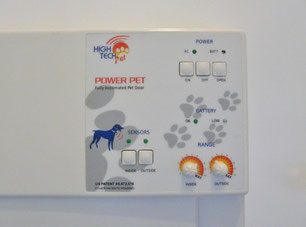 Electronic pet door control panel