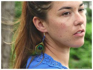 kp kitsch-paradise artisans créateurs macramé plumasserie création tissage micromacramé couleur plume volaille plumasserie bretagne