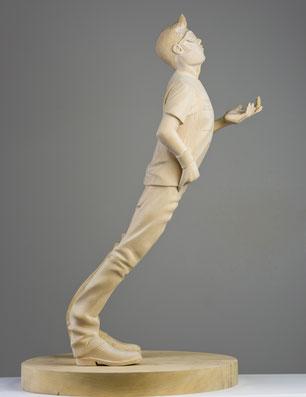 Paul Kaptein Three Hours australian sculptor wood bois pièce unique Contemporary art Misia Gallery