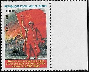 Benin - 40 Jahre Sieg großer vaterländischer Krieg