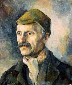 """Henri-Samuel Rochat père de l'artiste. Sa mère fut Julie-Mélanie Aubert, originaire du Chenit, venue au Pont comme sertisseuse chez un surnommé """"Tantolet"""". Le couple eut 11 enfants"""