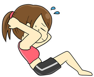 腰痛腹筋運動