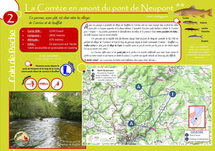 Coin de pêche Corrèze n°2 - La Corrèze en amont du pont de Neupont